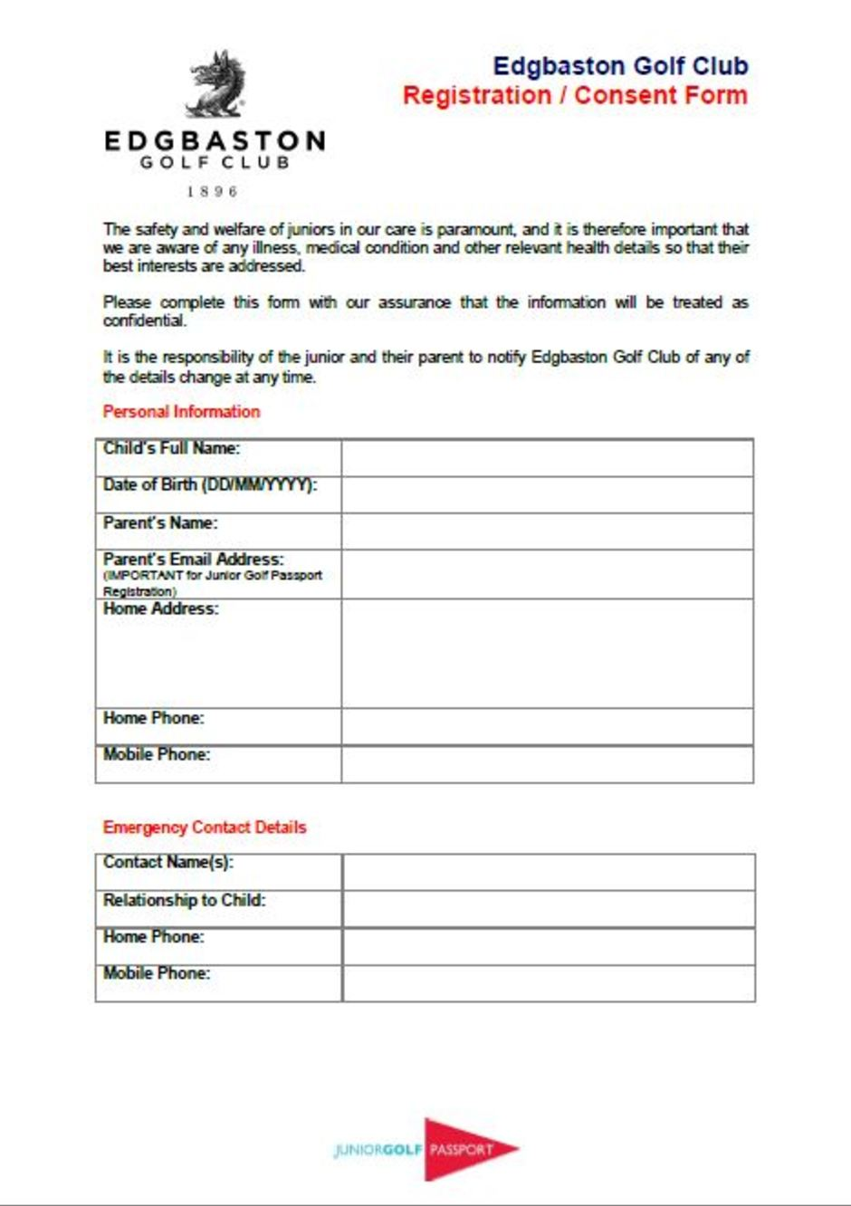 Doc625404 Passport Consent Forms DS3053 Statement of Consent – Passport Consent Forms